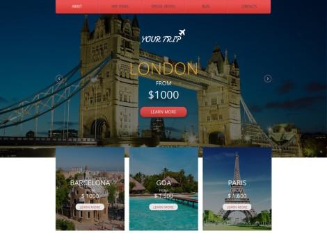 70+ mẫu giao diện Website du lịch miễn phí phần 1